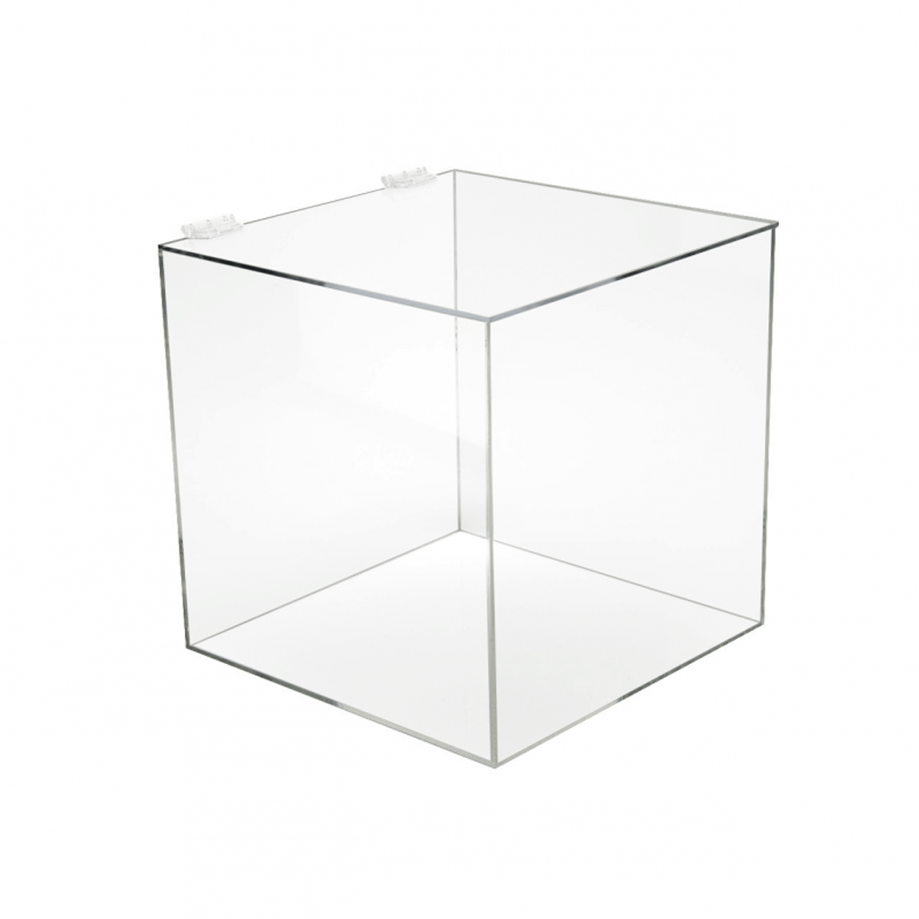 Acrylic 5-Sided Box w/ Hinged Lid