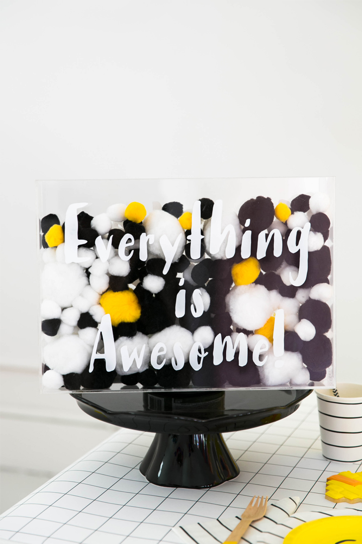 """Everything is Awesome"" Acrylic Box from Everything is Awesome! Party In Collaboration with Daydream Society, But First, Party!, & Bonjour Fete"