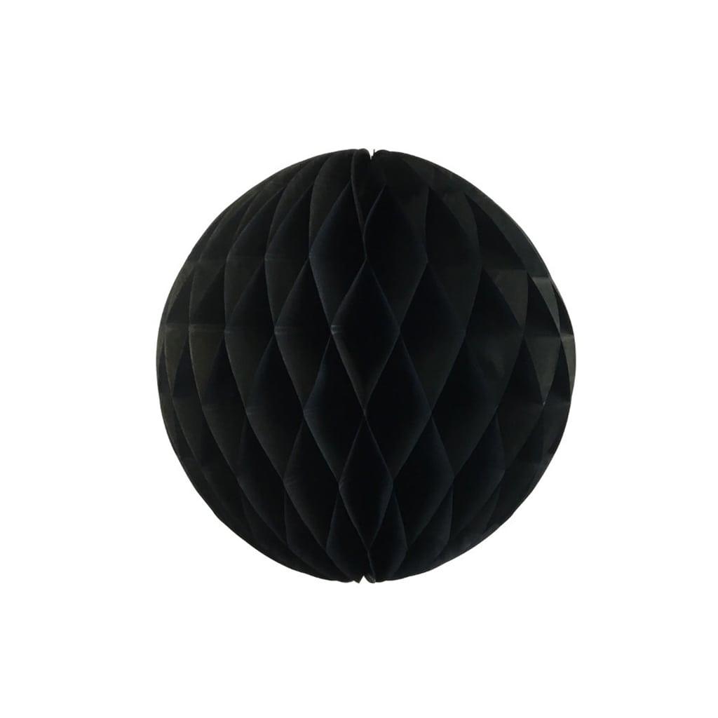Black 6-inch honey comb ball