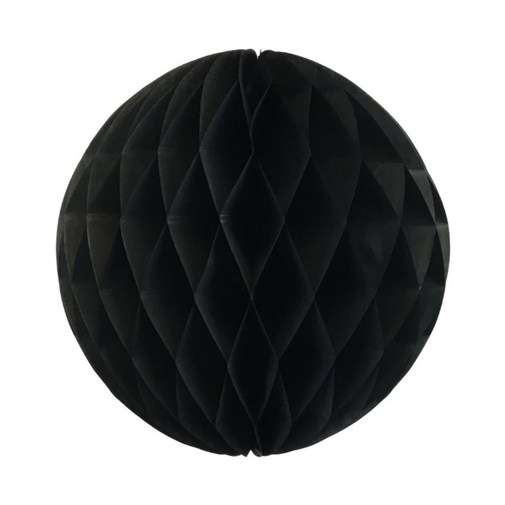 Black 8-inch honey comb ball