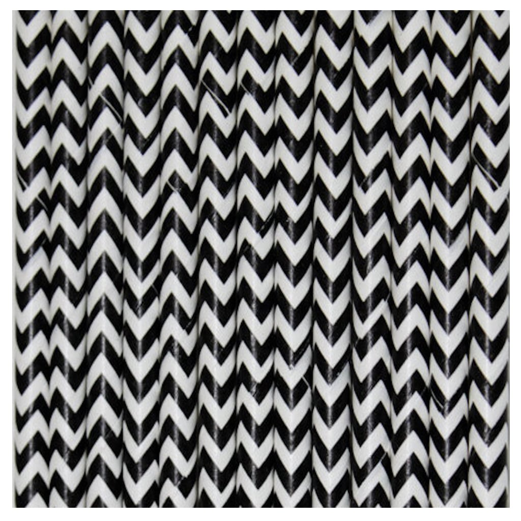 BLACK & WHITE CHEVRON STRAWS from Bonjour Fete