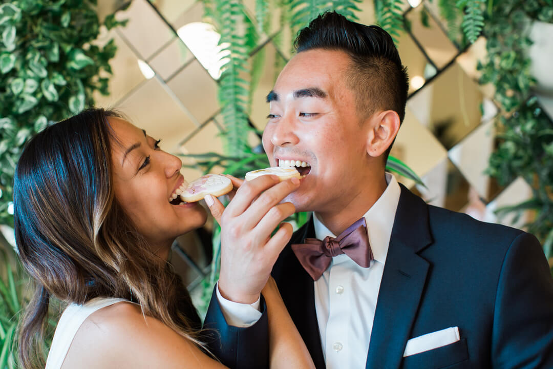 """Bride and Groom from Bridal Tribe """"Try-On"""" Party styled by Black Twine In Collaboration with Birdy Grey"""