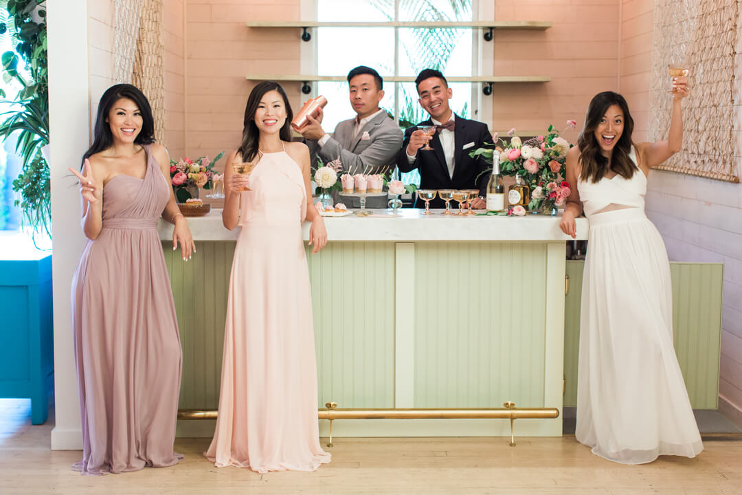 """Tablescape and Entourage from Bridal Tribe """"Try-On"""" Party styled by Black Twine In Collaboration with Birdy Grey"""