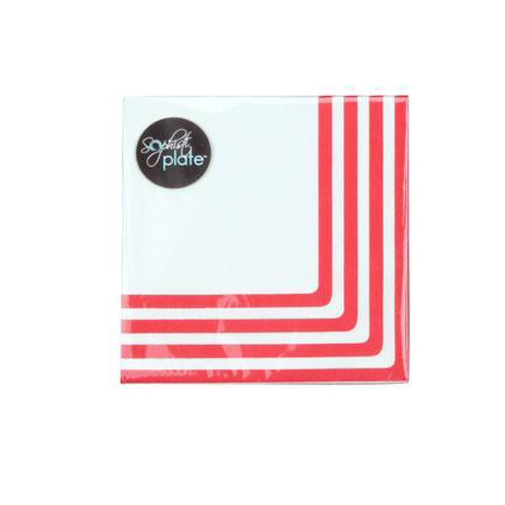CLASSIC RED COCKTAIL NAPKINS from Sophistiplate