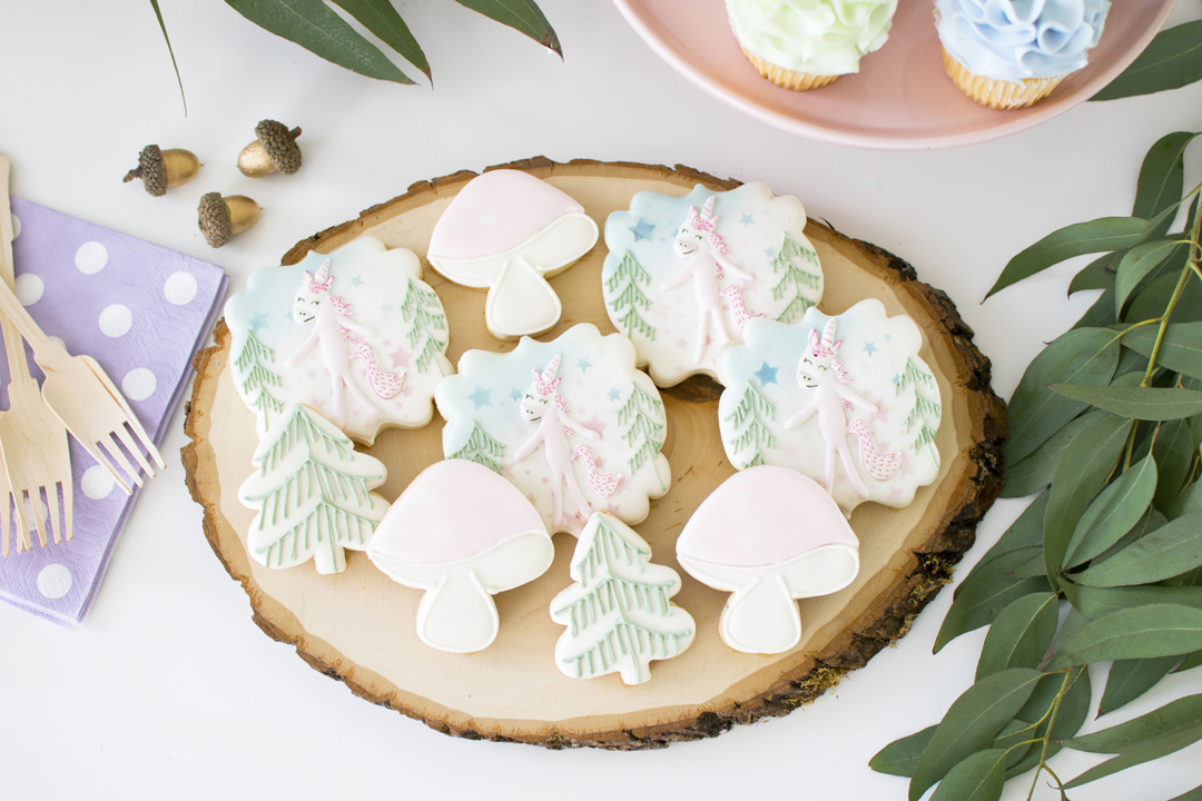 Cookies from Unicorn Woodland Party In Collaboration with Slumberkins and Styled by Twinkle Twinkle Little Party | Black Twine