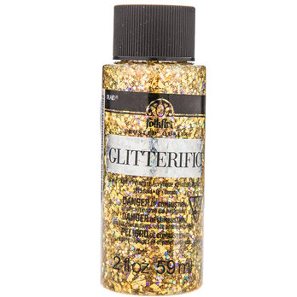 Gold Glitter Acrylic Paint