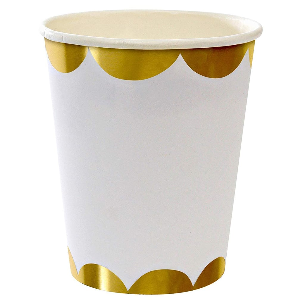 Gold Scallop Party Cup from Meri Meri