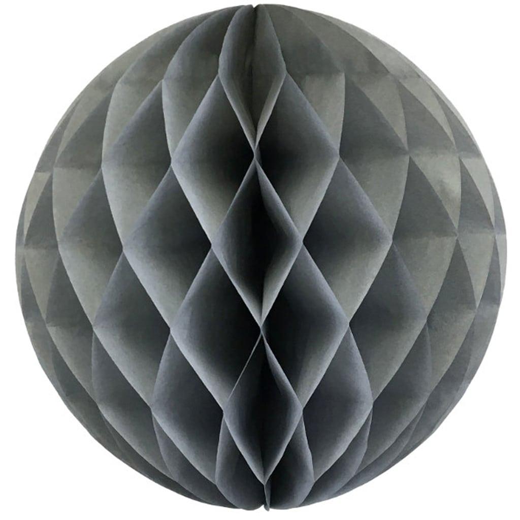 Grey 12-inch honey comb ball
