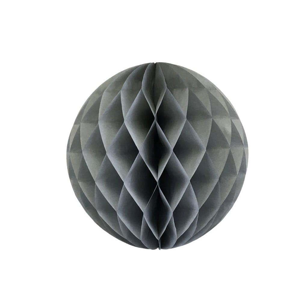 Grey 6-inch honey comb ball
