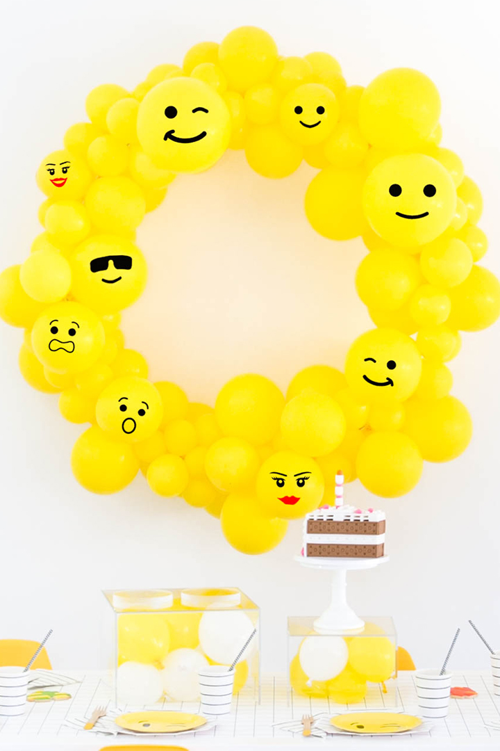 Balloon Wreath, Lego Cake and Tablescape from Everything is Awesome! Party In Collaboration with Daydream Society, But First, Party!, & Bonjour Fete