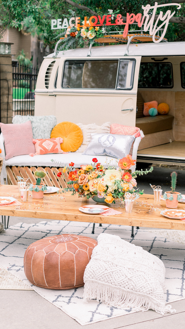 Van from Peace, Love & Party styled by Deets & Things   Black Twine