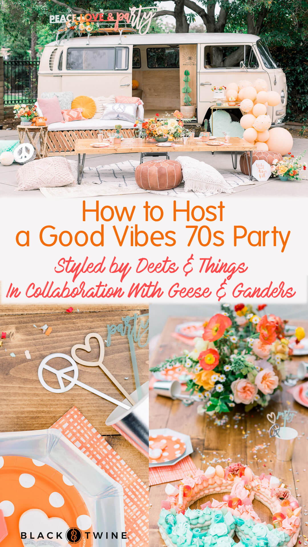 Photo Collage from Peace, Love & Party styled by Deets & Things | Black Twine