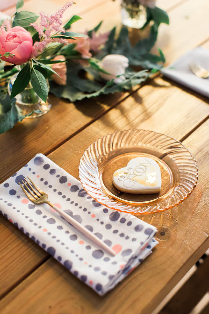 "Place Setting from Bridal Tribe ""Try-On"" Party styled by Black Twine In Collaboration with Birdy Grey"