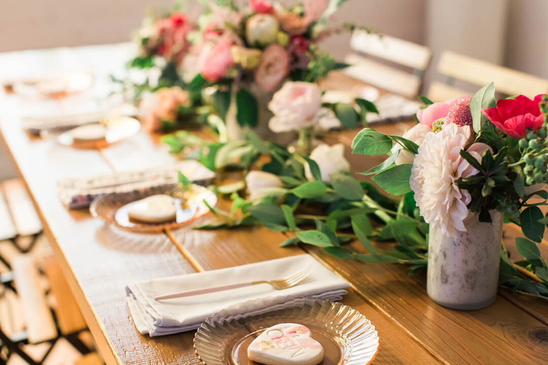 """Place Setting from Bridal Tribe """"Try-On"""" Party styled by Black Twine In Collaboration with Birdy Grey"""