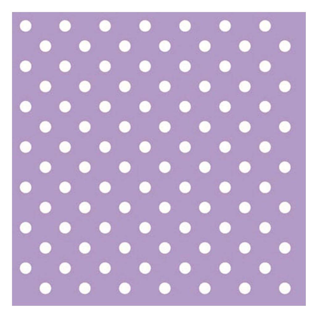 Lilac Polka-Dot Napkins