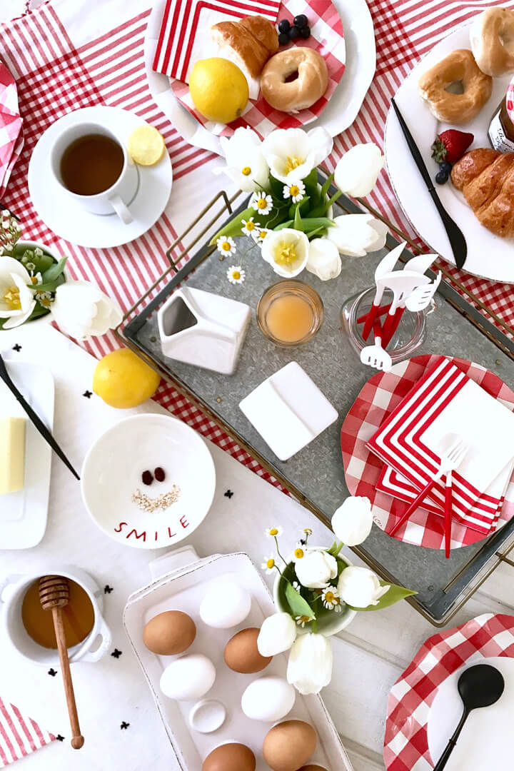 Dessert Tablescape from Red + White Summer BBQ Tablescape styled by Table + Dine   Black Twine