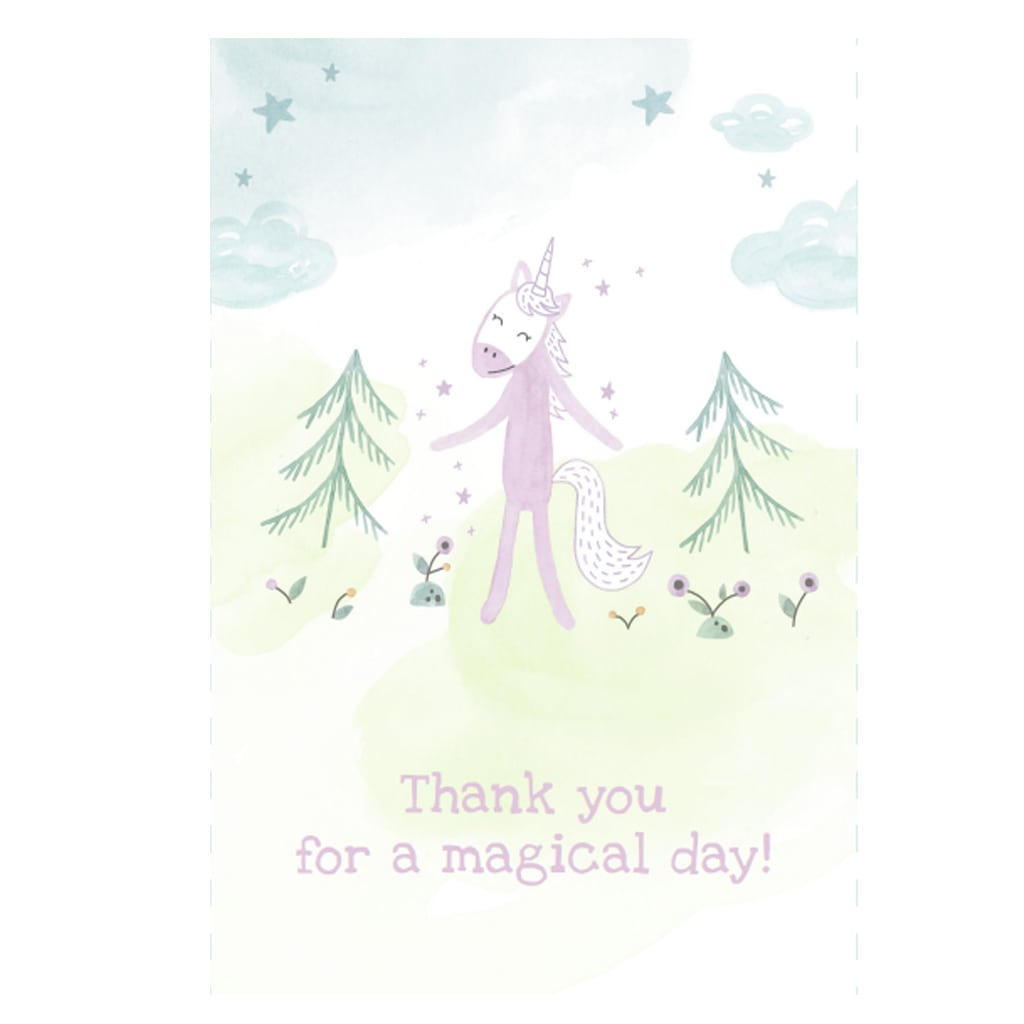 Thank you Card from Twinkle Twinkle Little Party