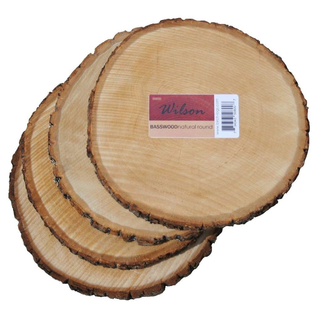 Round Basswood Slab