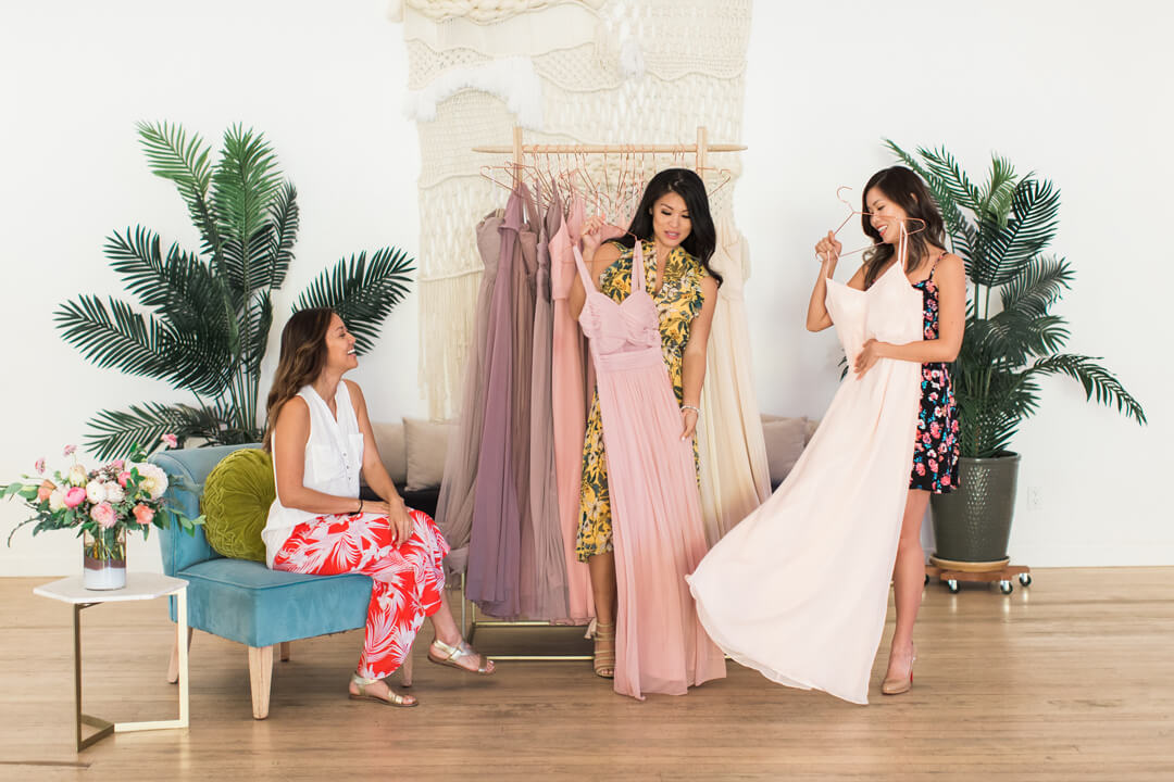 """Trying Bridal Dresses from Bridal Tribe """"Try-On"""" Party styled by Black Twine In Collaboration with Birdy Grey"""