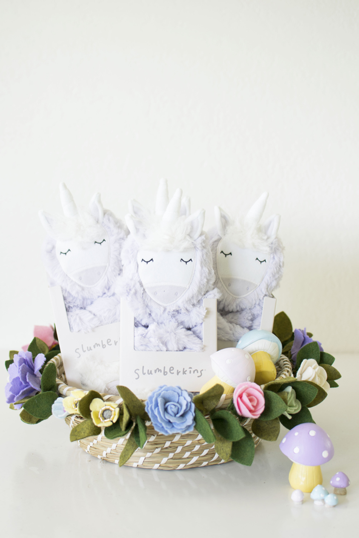Unicorn Plush from Unicorn Woodland Party In Collaboration with Slumberkins and Styled by Twinkle Twinkle Little Party | Black Twine