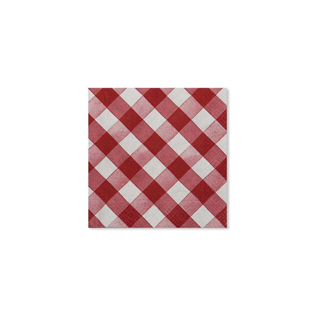 CHECKERED RED AND WHITE NAPKINS from Sophistiplate