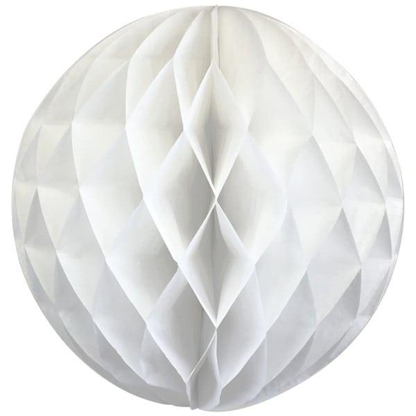 White 12-inch honeycomb ball