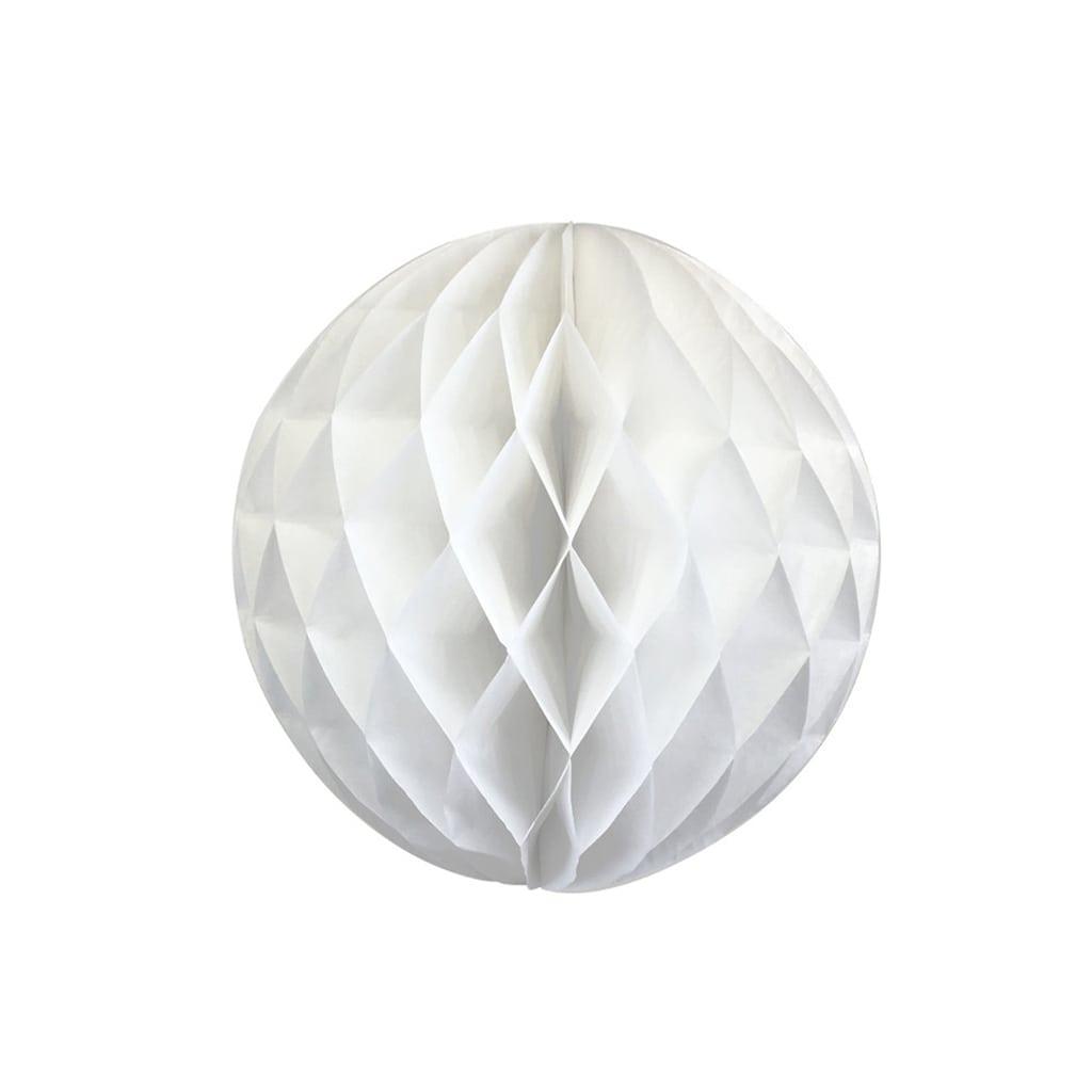 White 6-inch honeycomb ball