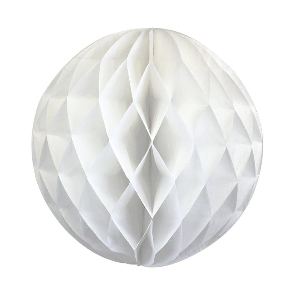 White 8-inch honeycomb ball