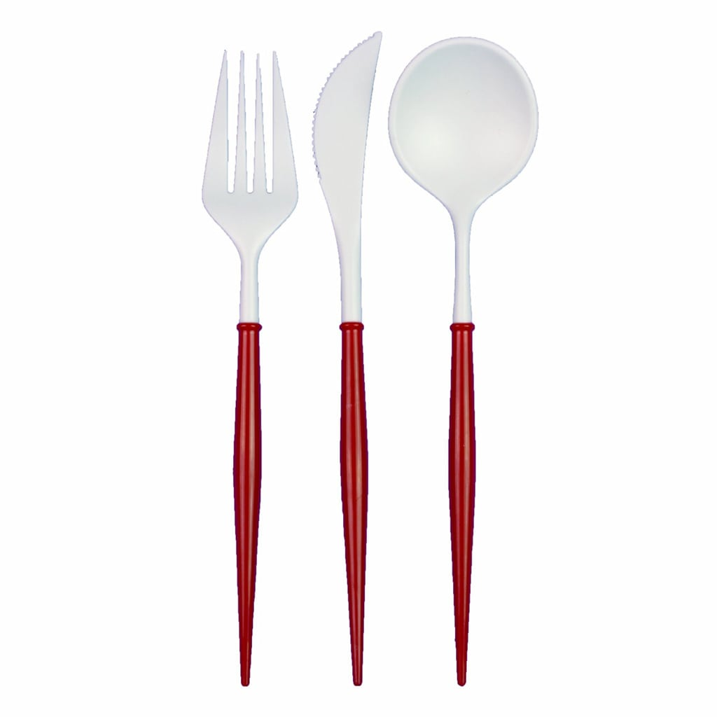 Red and White Flatware from Sophistiplate