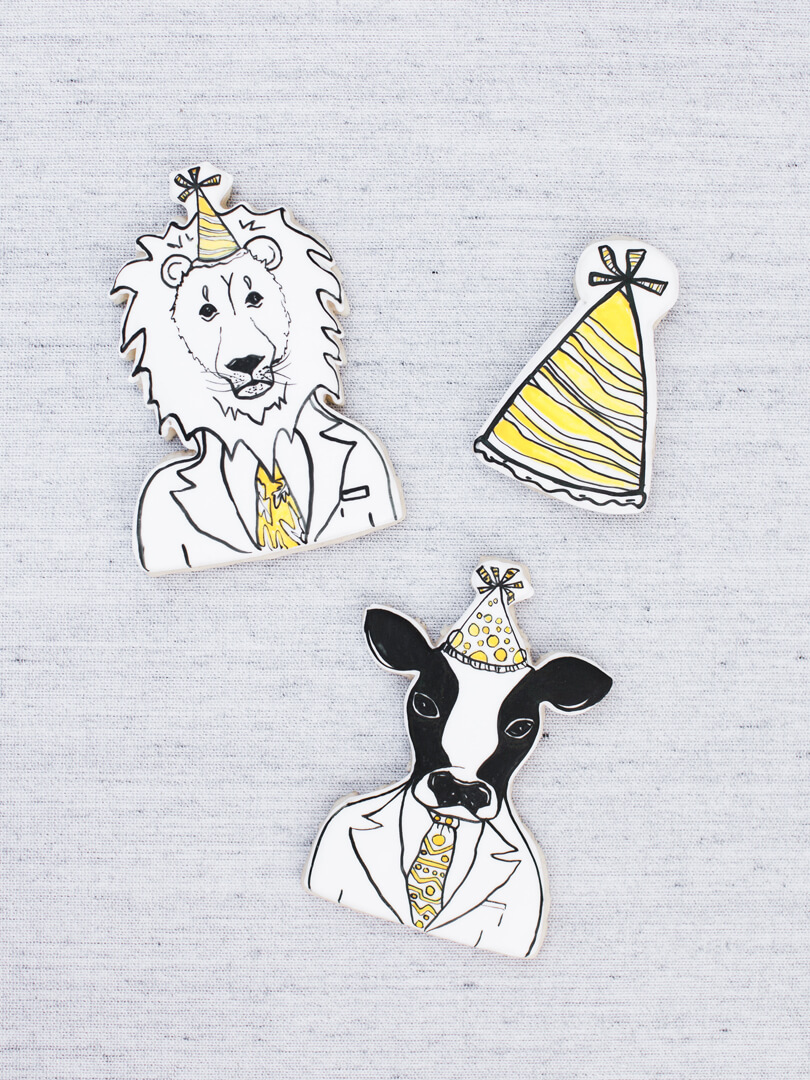Animal Cut Outs from Party Like An Animal! Party Styled by Deets & Things | Black Twine