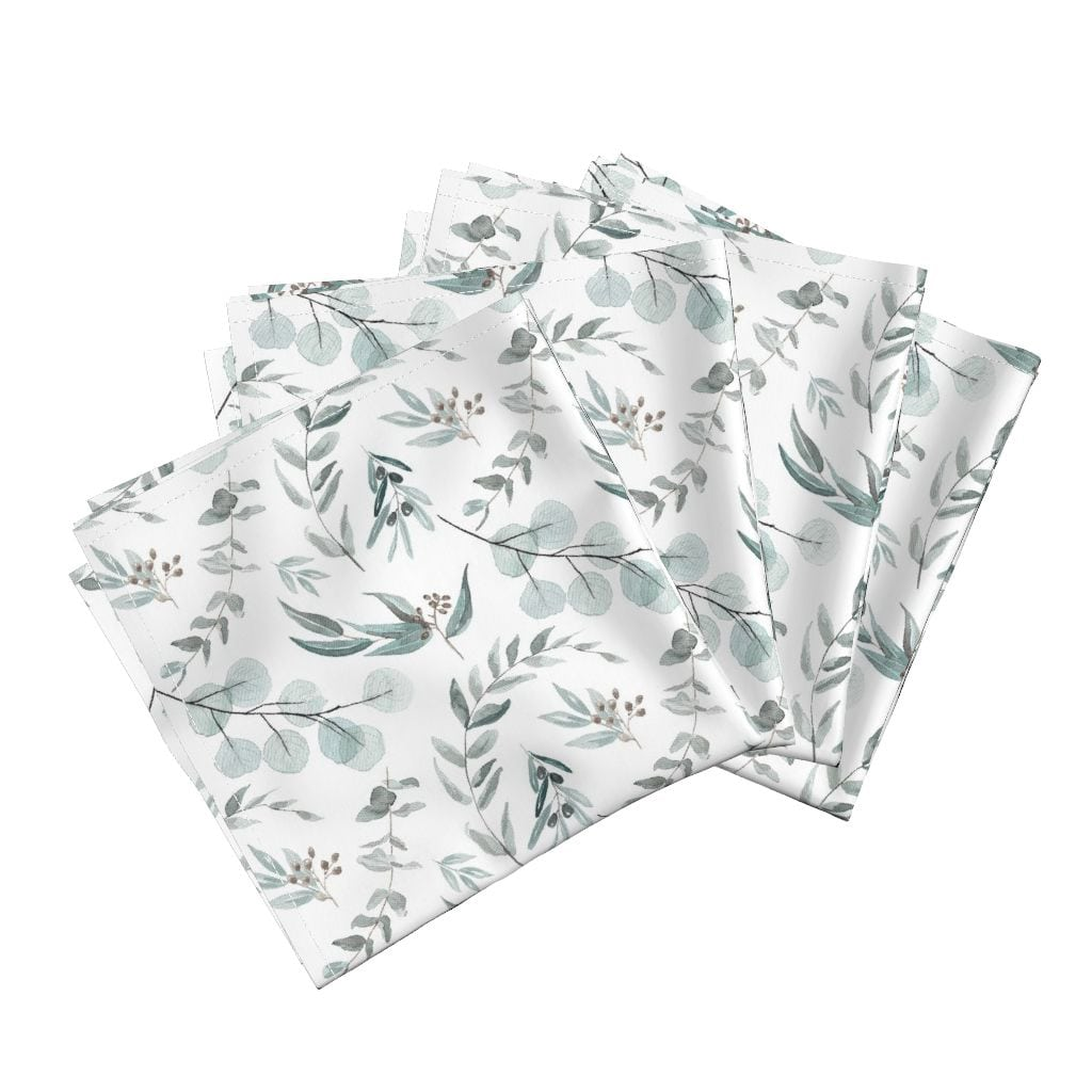 Australian Native Eucalyptus Leaves Napkins from Roostery