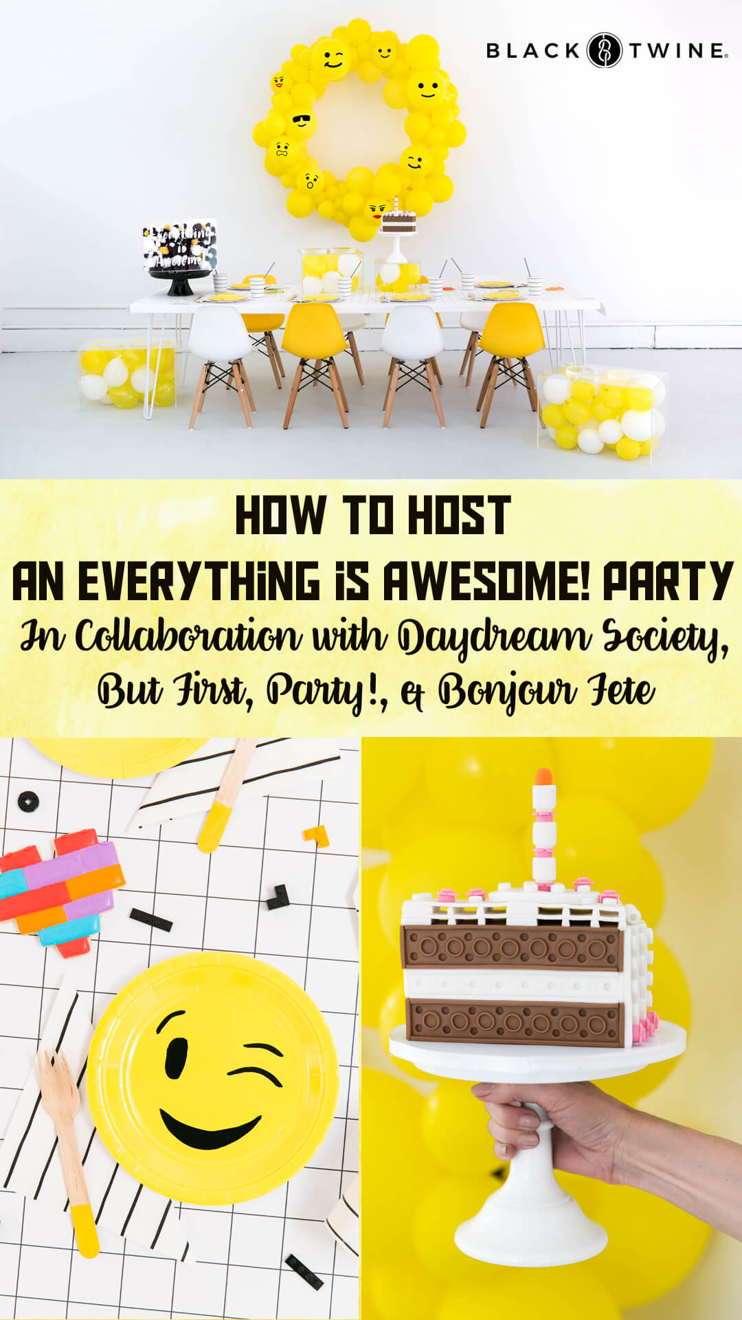 Tablescape, Place Setting and Everything is Awesome Acrylic Box from Everything is Awesome! Party In Collaboration with Daydream Society, But First, Party!, & Bonjour Fete
