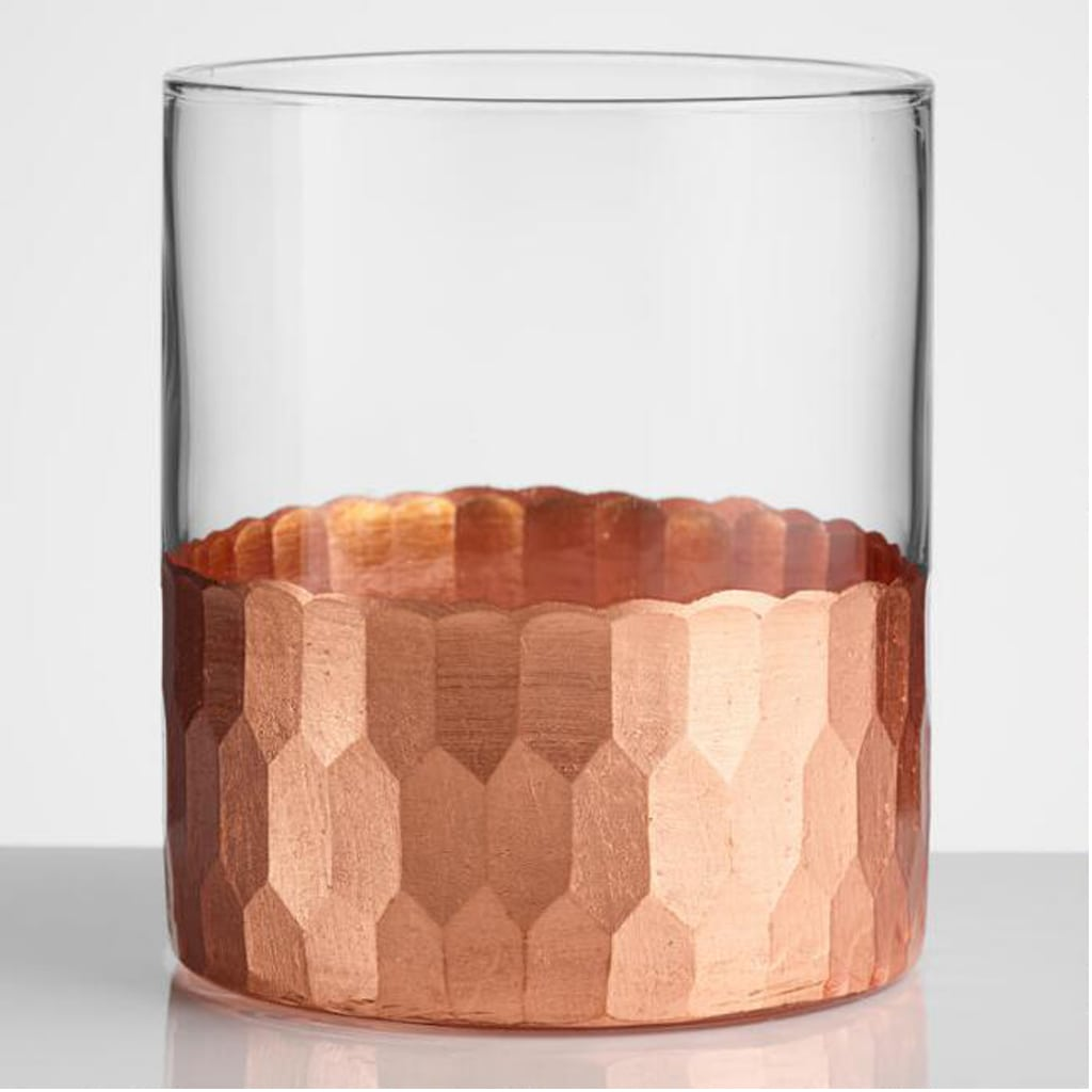 Copper Faceted Glasses