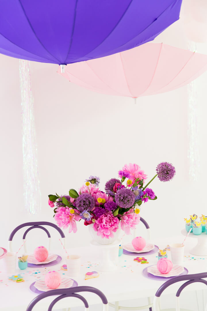 Florals from Piggie Splish Splash Bash In Collaboration with Daydream Society, But First, Party!, & Bonjour Fete