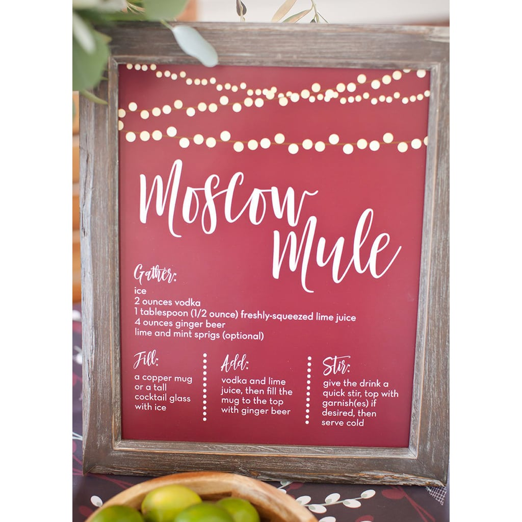photo about Moscow Mule Recipe Printable named Moscow Mule Cocktail Print Black Wire