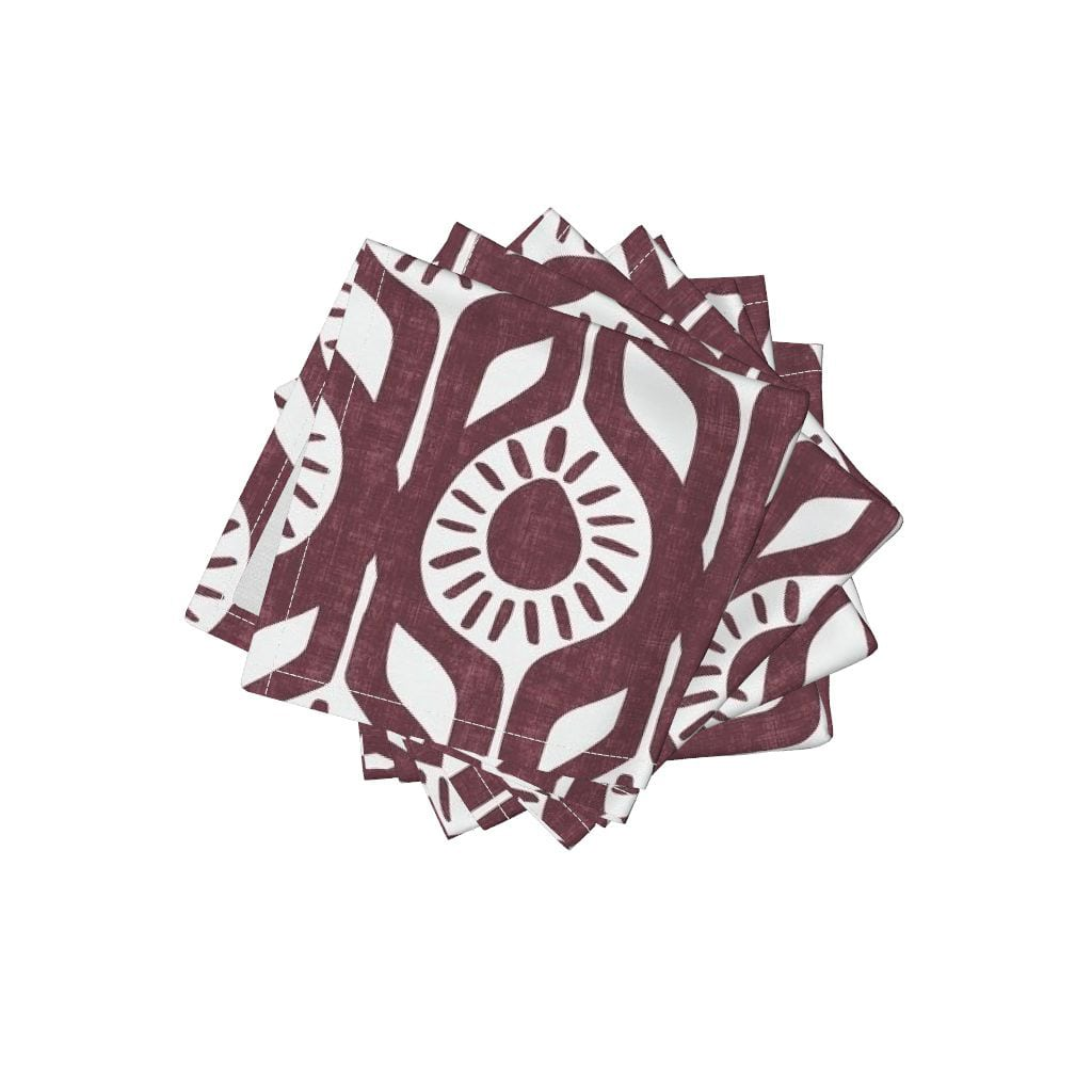 Peace - Abstract Floral Napkins from Roostery