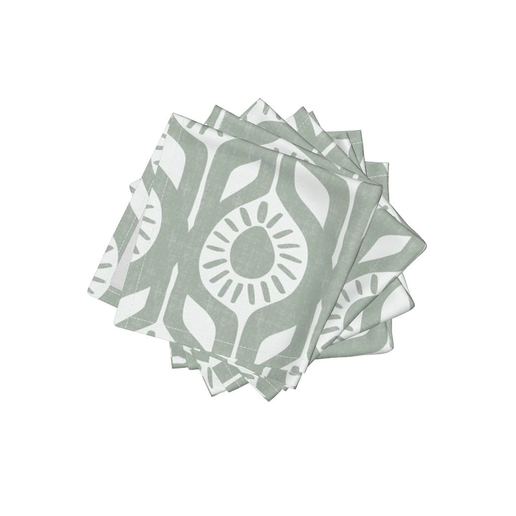 Peace - Elegant Holiday - Modern Floral Napkins from Roostery