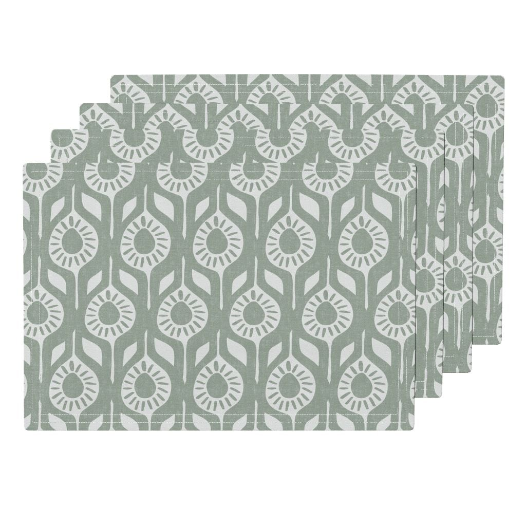 Peace - Elegant Holiday - Modern Floral Placemats from Roostery