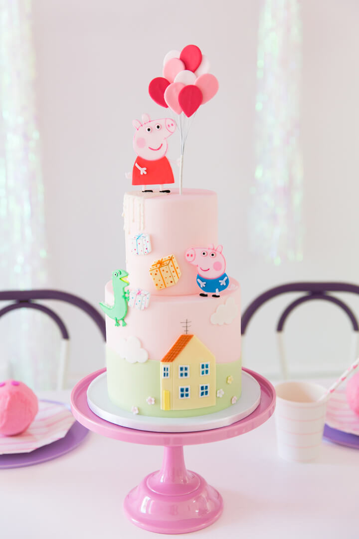 Peppa Pig Cake from Piggie Splish Splash Bash In Collaboration with Daydream Society, But First, Party!, & Bonjour Fete