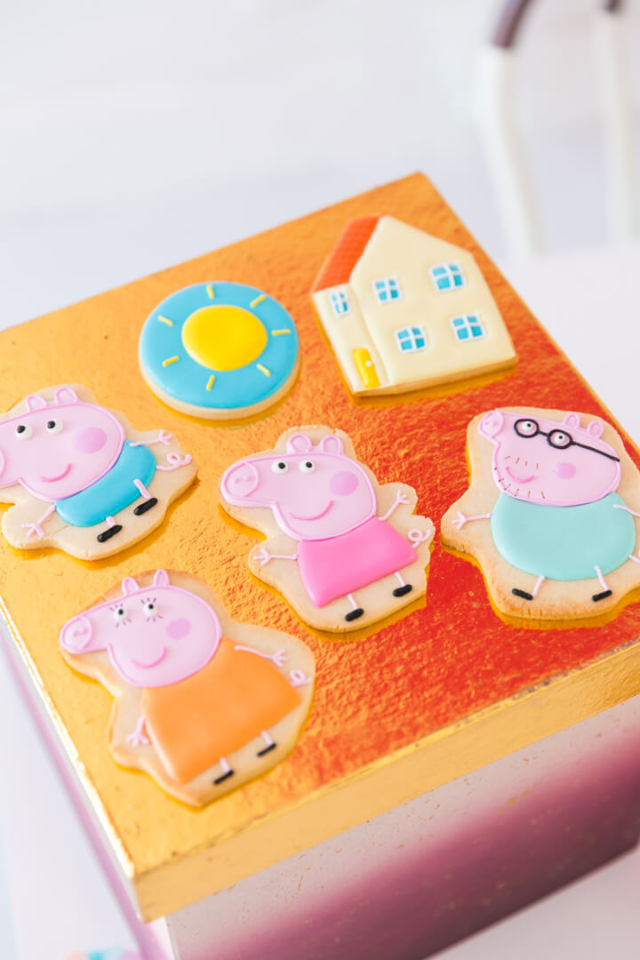 Peppa Pig Cookies from Piggie Splish Splash Bash In Collaboration with Daydream Society, But First, Party!, & Bonjour Fete