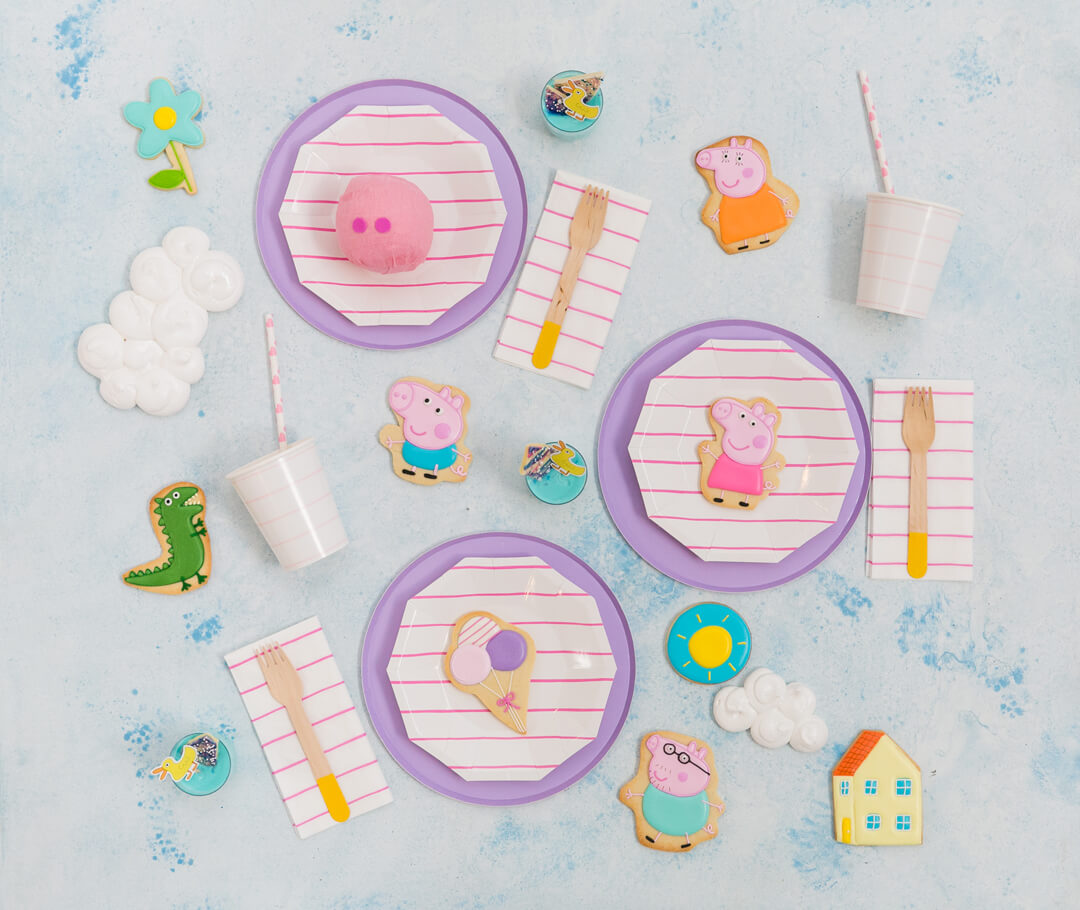 Flat Lay Place Setting from Piggie Splish Splash Bash In Collaboration with Daydream Society, But First, Party!, & Bonjour Fete