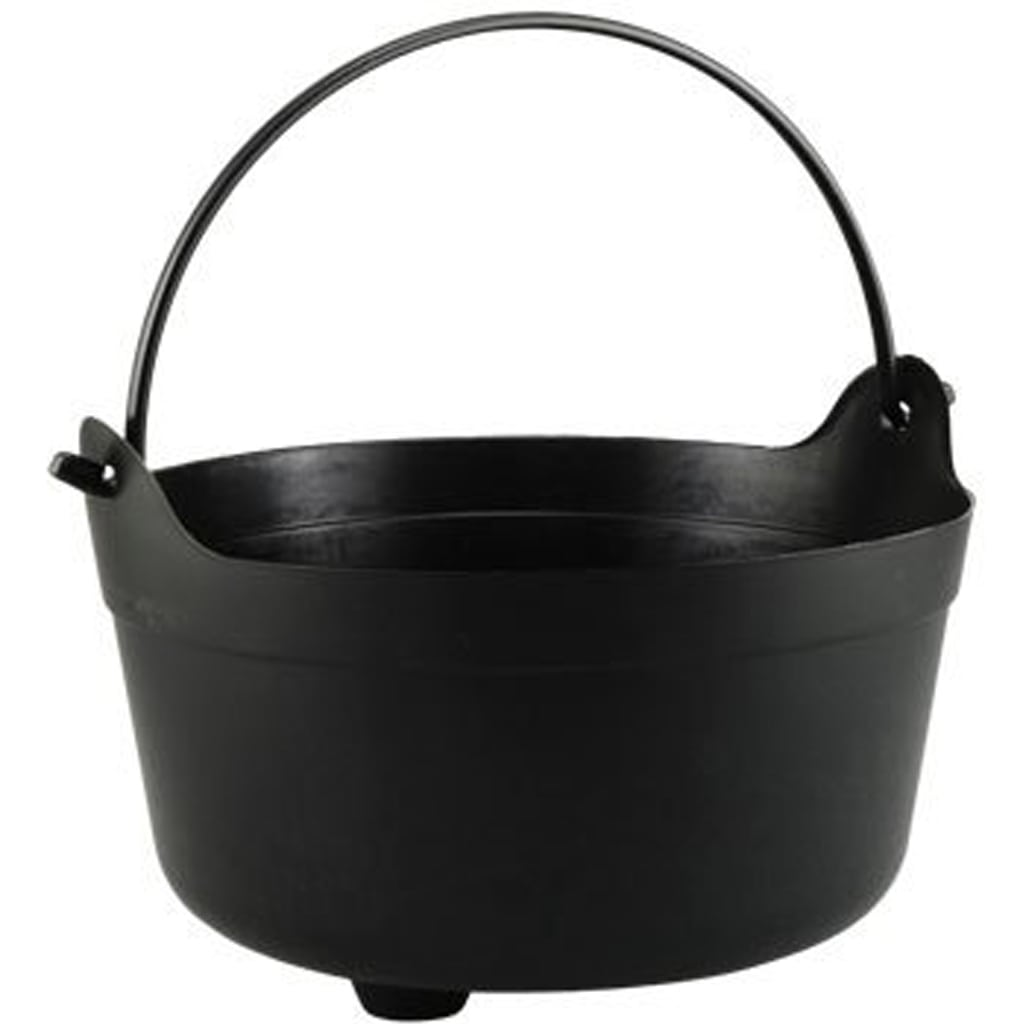 Black Plastic Cauldron Buckets with Handles