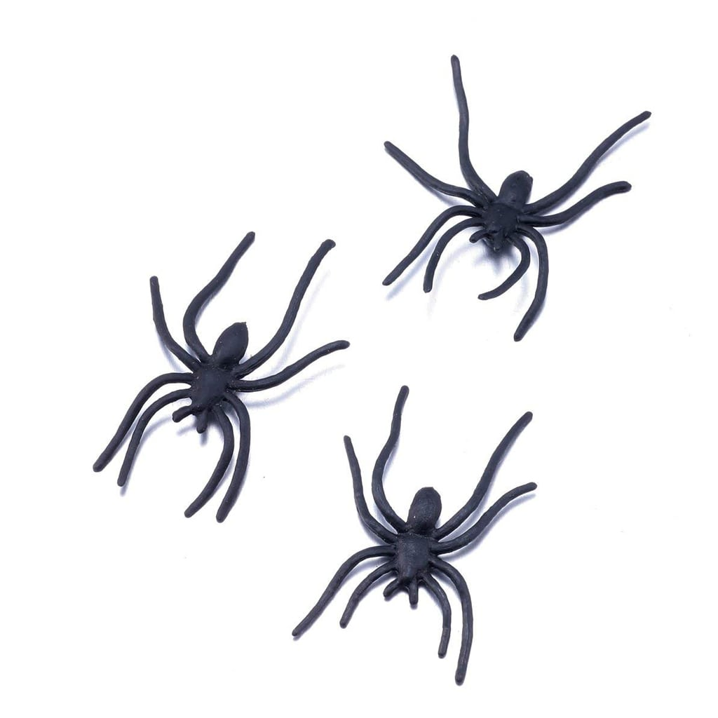 Black Plastic Spiders