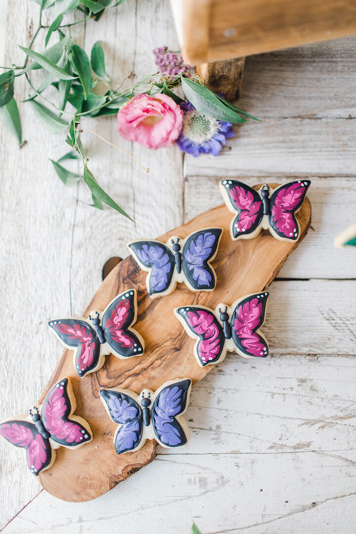 Butterfly Cookies from Garden Fairy Party In Collaboration with Deets & Things | Black Twine