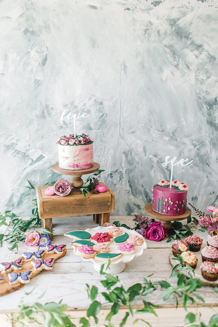 Dessert Table from Garden Fairy Party In Collaboration with Deets & Things | Black Twine