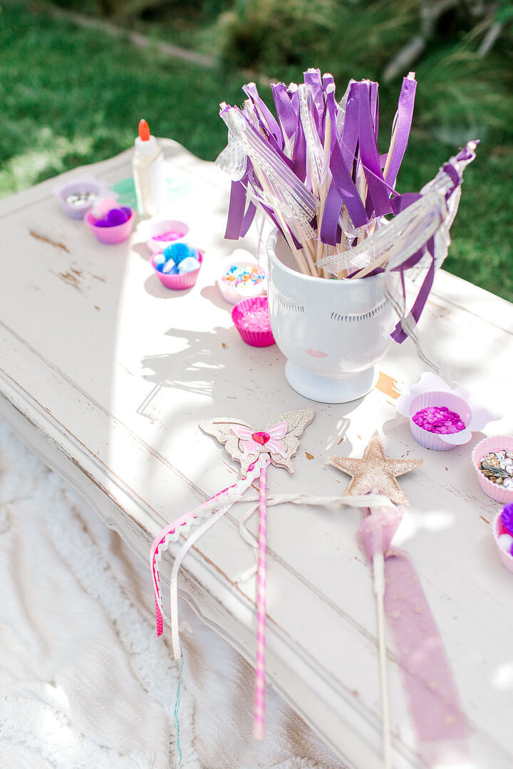 Fairy Wands from Garden Fairy Party In Collaboration with Deets & Things | Black Twine