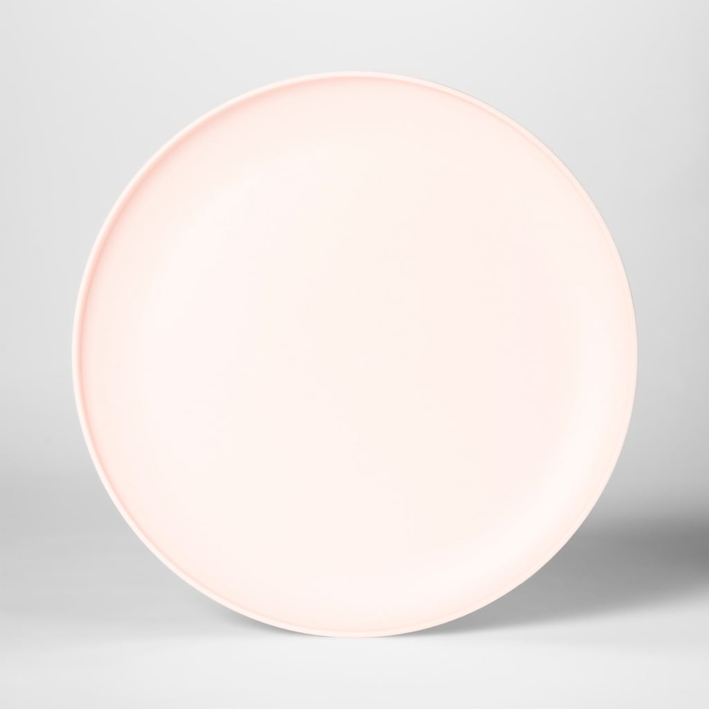 "10.5"" Plastic Dinner Plate Pink - Room Essentials™"