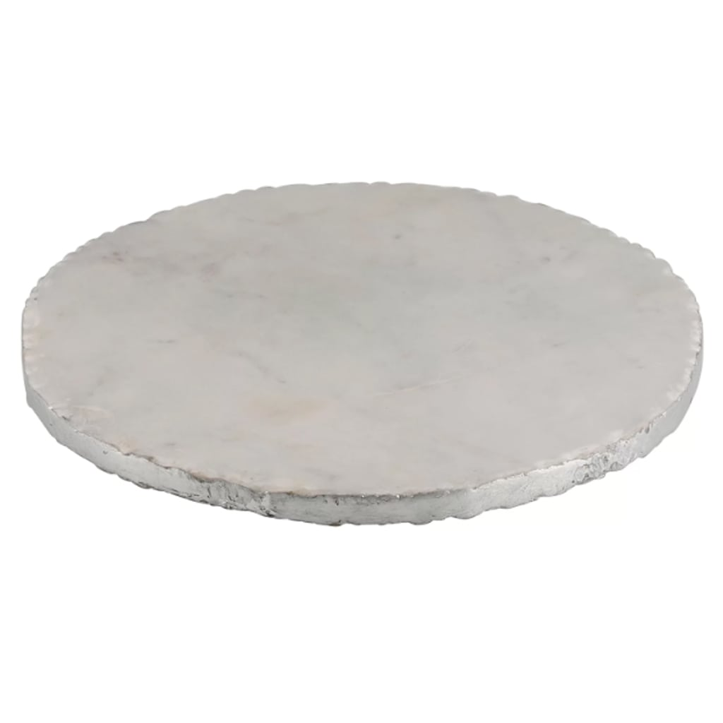 Old Hollywood Round Marble Serving Tray