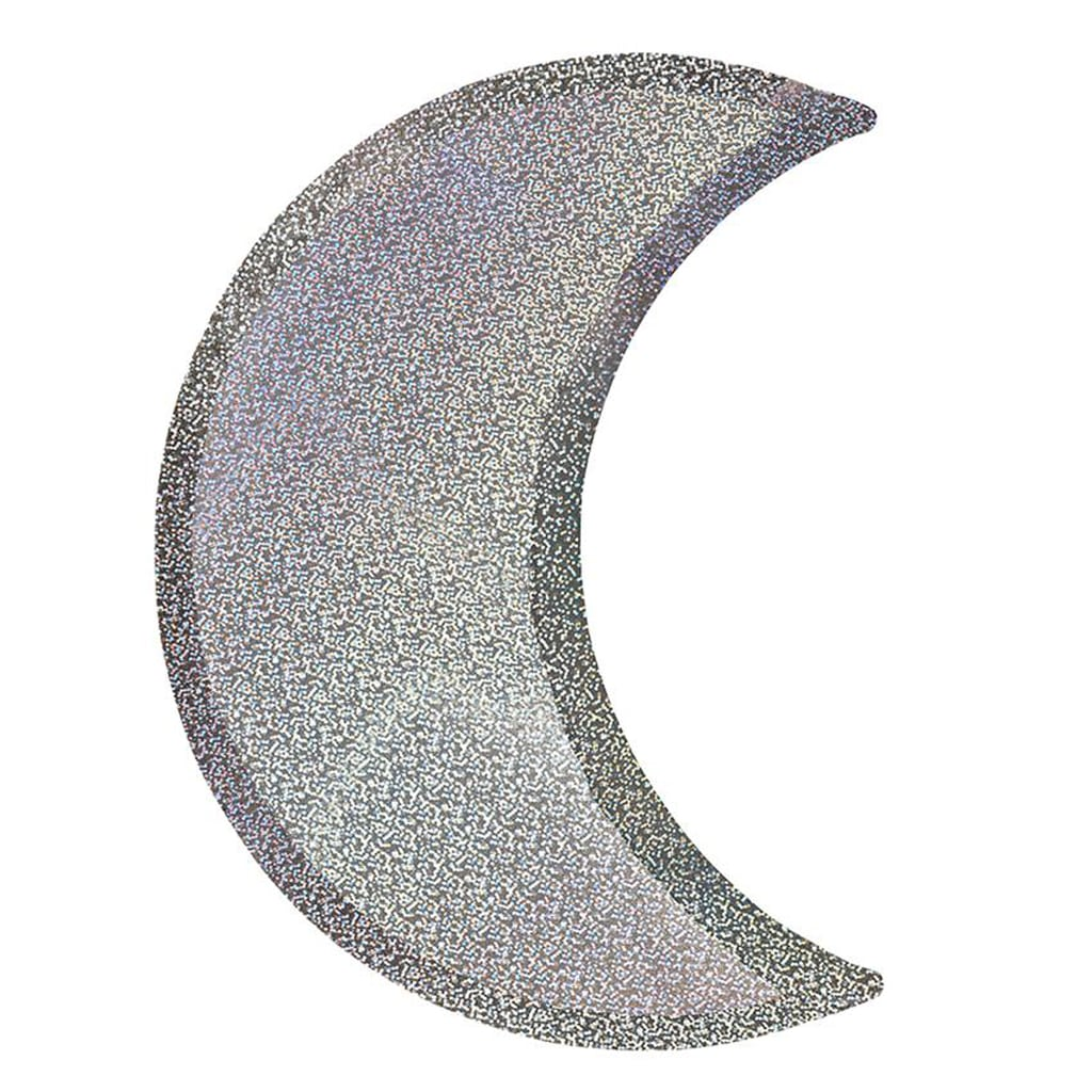 Silver Sparkle Moon Lunch Plates from The Party Darling