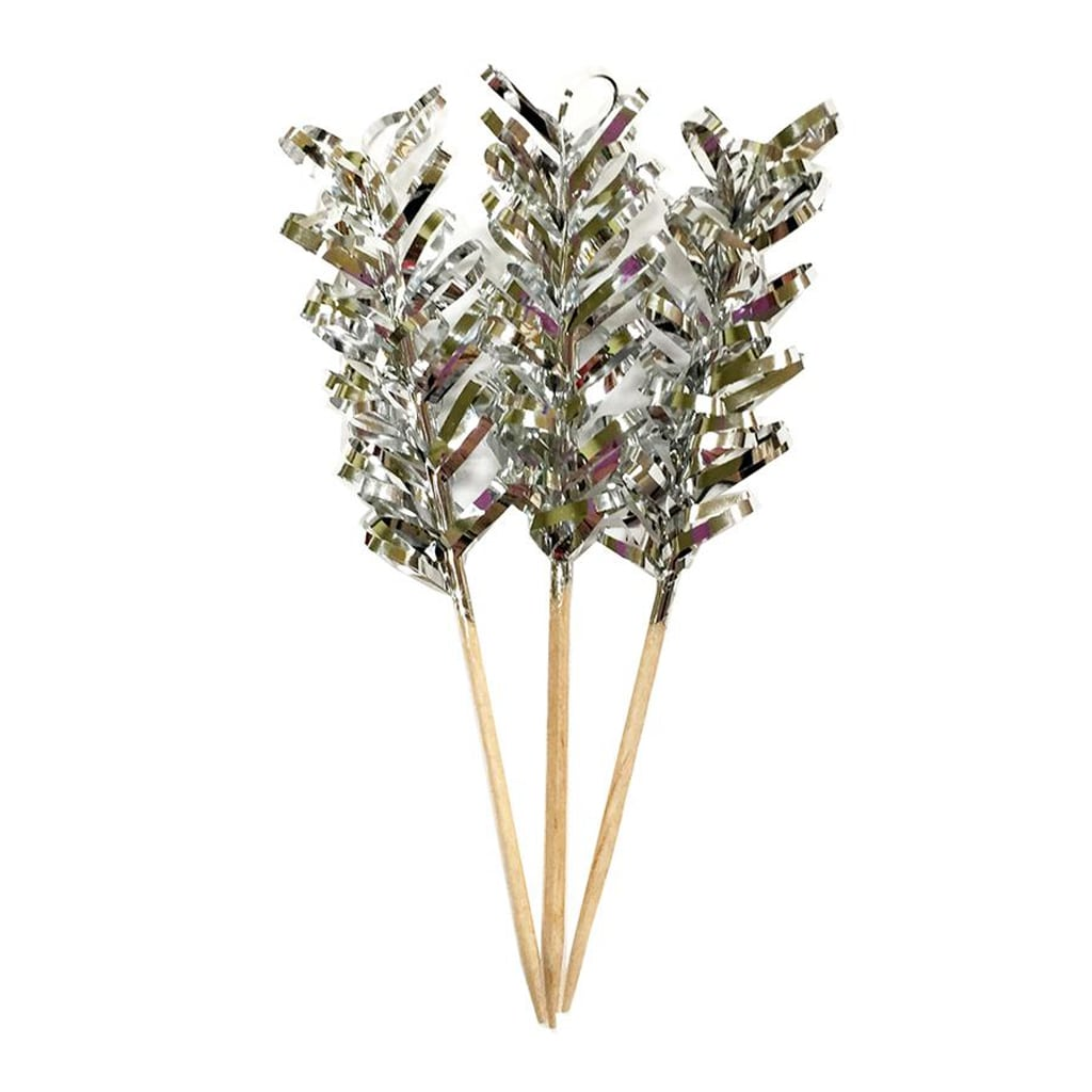 Silver metallic party picks from Sophistiplate